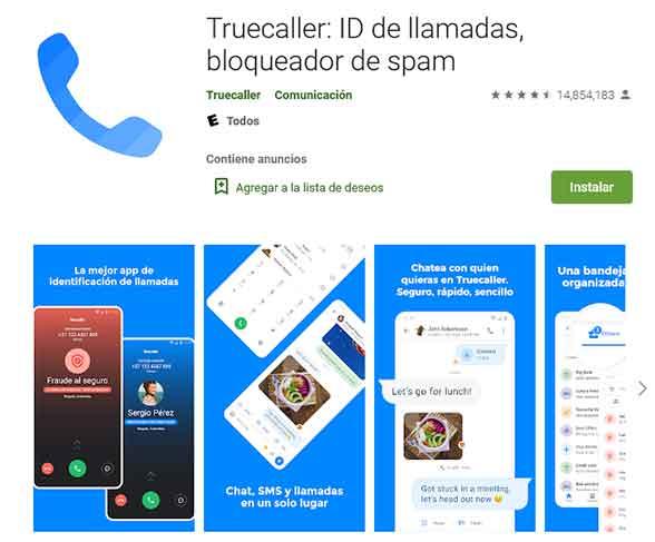 Instala y utiliza TrueCaller