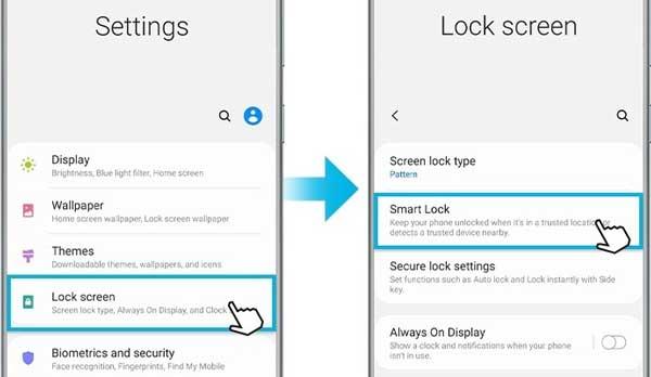 Cómo configurar la función Smart Lock en dispositivo móvil