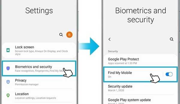 Habilitar la opción de Desbloqueo remoto en un dispositivo Samsung